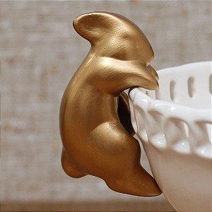 Coelho pendurado - dourado