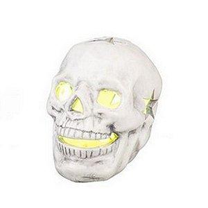 Caveira branca com LED