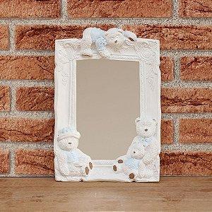 Espelho decorado - Ursos azul
