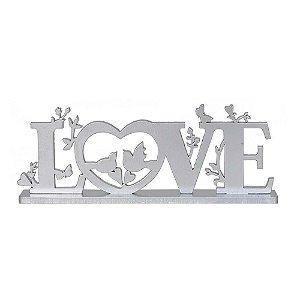 Letreiro Love Prata