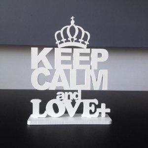 Letreiro Keep Calm and Love +