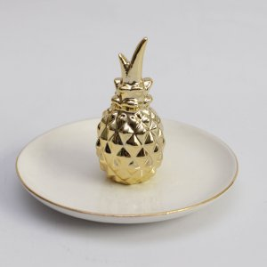 Porta bijoux com abacaxi (13cm)