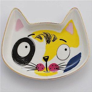 Prato gatinho amarelo