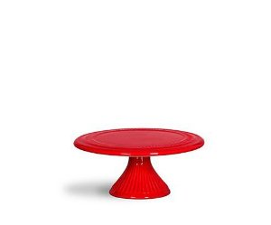 Boleira base canelada vermelha pequena