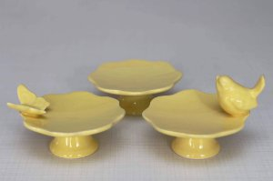 Mini Suporte para Cupcake / Mini Boleira Amarelo