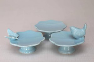 Mini suporte para cupcake / Mini boleira - Azul