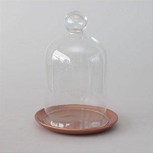 Redoma com base de louça - cobre
