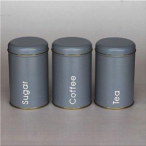 Jogo de latas - Açúcar, Café e Chá