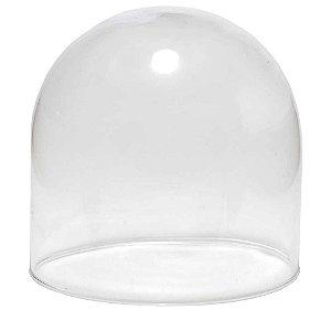 Redoma de vidro lisa - pequena