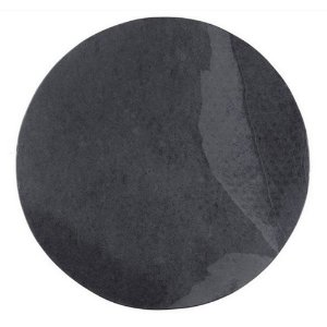 Prato redondo em Ardósia - Acabamento Liso (30cm)