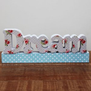 Letreiro Dream Florido