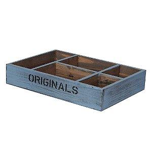 Caixa de Madeira Originals com Divisória (6,5x25,5x35cm)