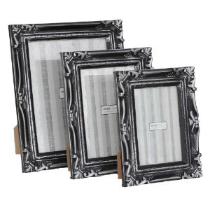 Porta-retratos rústico prata