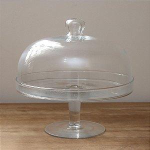 Boleira de Vidro com Redoma - 31 cm (Altura)