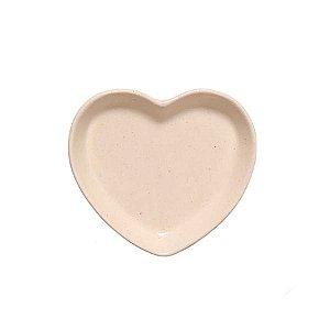Travessa coração Creme P (12x11cm)