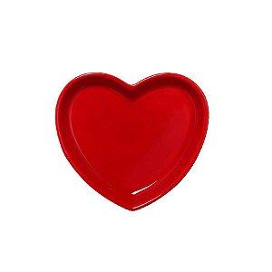Travessa coração Vermelha P (12x11cm)