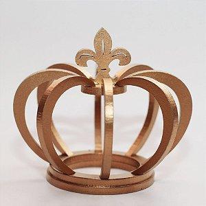 Coroa de Madeira Dourada pequena