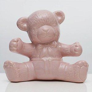 Urso de Louça Rosa