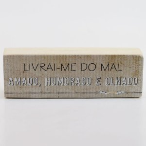 "Mini Bloco ""Livrai-me do mal..."""