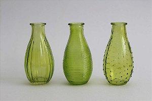 Trio de Vasos Vidro Verde