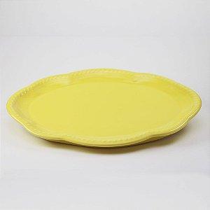 Bandeja de louça amarela