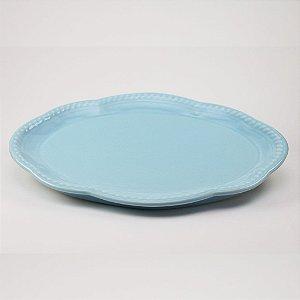 Bandeja de louça azul