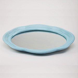 Bandeja de louça com espelho azul