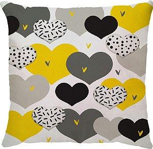 Capa Neo Coração Amarelo Cinza