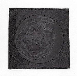 Prato Quadrado em Ardósia com borda - Acabamento Rústico (20x20cm)