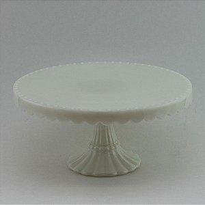 Boleira de vidro Branca