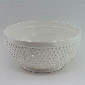 Tigela de plástico Branca