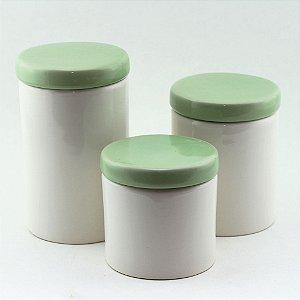 Kit Higiene Verde e Branco - 3 peças