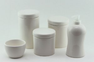 Kit Higiene Branco - 5 peças