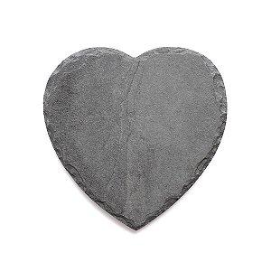 Prato Coração em Ardósia - Acabamento Rústico (18x18cm)