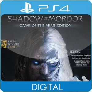 Middle-Earth: Shadow of Mordor GOTY PS4 Mídia Digital