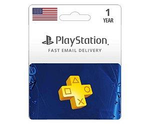 Cartão PSN Plus Americana Assinatura 12 Meses