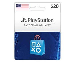 Cartão PSN $20 Dólares PSN Americana