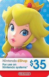 Cartão Nintendo eShop $35 Dólares