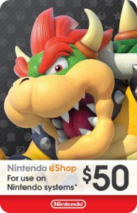 Cartão Nintendo eShop $50 Dólares