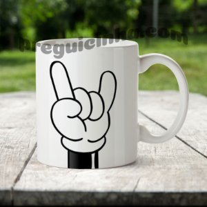 Caneca Mickey Rock and Roll