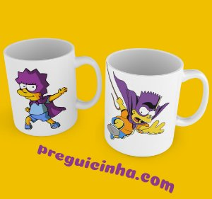 Caneca personalizada Bart e Lisa