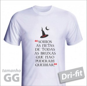 Camiseta - BRUXA - Dri-fit - tamanho GG