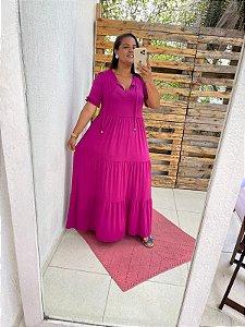 Vestido Fernanda      (Modelagem Ampla que veste do P ao GG) Cod. 5081