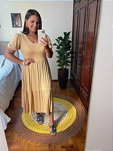 Vestido Fabiola na cor bege    (Tamanho único)