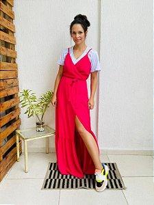 Vestido Helena Cor Pink    (Tamanho Amplo que veste do 38 ao 42)