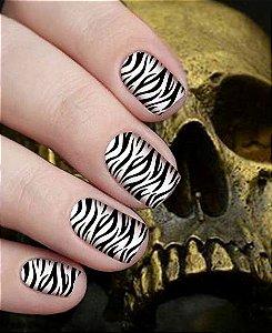 Películas para Unhas Zebra Hard Rock