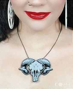 Maxi Colar Goat Skull