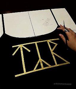 Alcinha TYR (Logo Dourado) Pintada a Mão