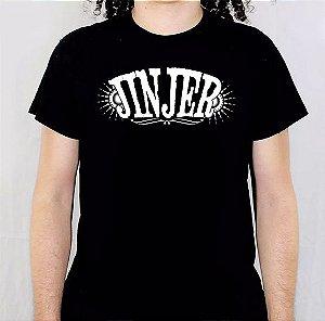 Camiseta Jinjer Logo Branco Pintada a Mão