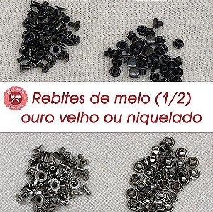 Rebite de Meio (1/2) - saquinho com 100 unid